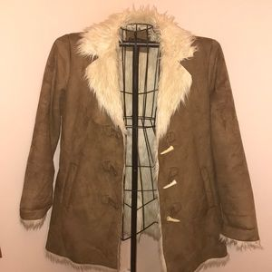 Style & Co Fur like Lined Coat Size Large